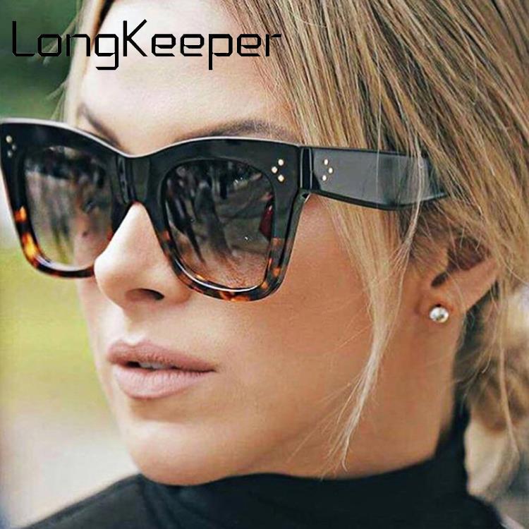 Longkeeper óculos de sol estilo olho de gato, feminino, vintage, estilo leopardo, sexy, uv400