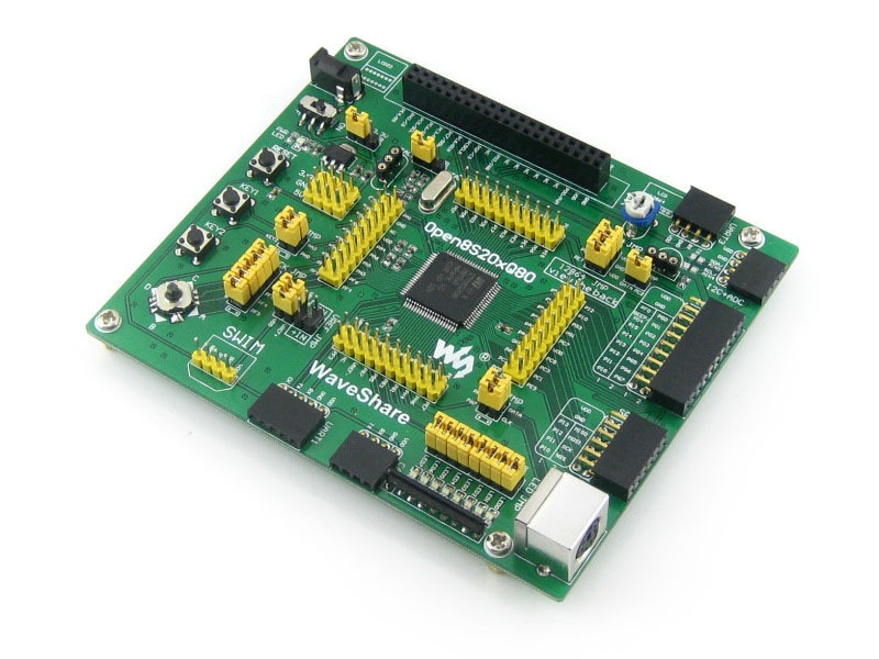 لوحة تطوير التقييم STM8 STM8S208MB STM8S208 STM8S ، موسع I/O كامل = Open8S208Q80 قياسي