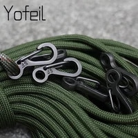 10 pcs mini sf spring backpack clasps climbing carabiners equipment survival edc paracord snap hook keychainl buckle clip