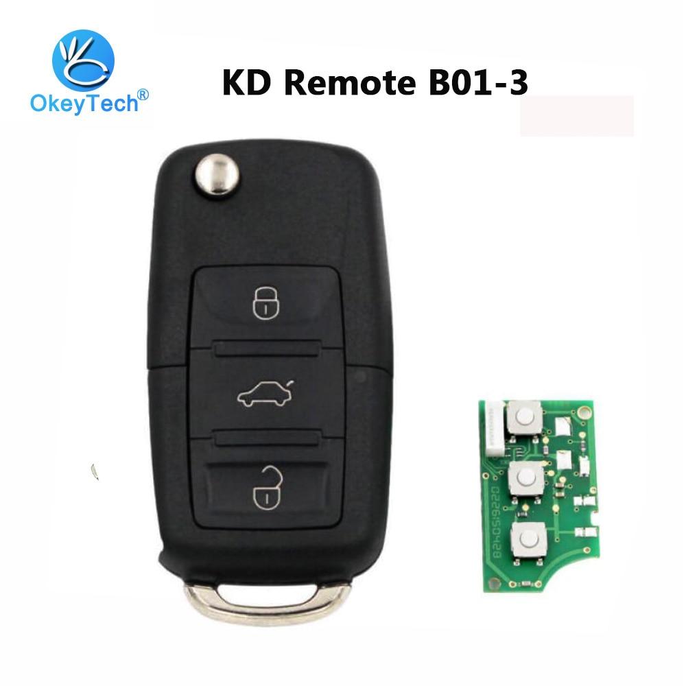 OkeyTech B01 KD 3 Botão Chave de Controle Remoto Estilo Série B Para KD900 KD900 + URG200 Keydiy Programador Chave Máquina para VW B01-3