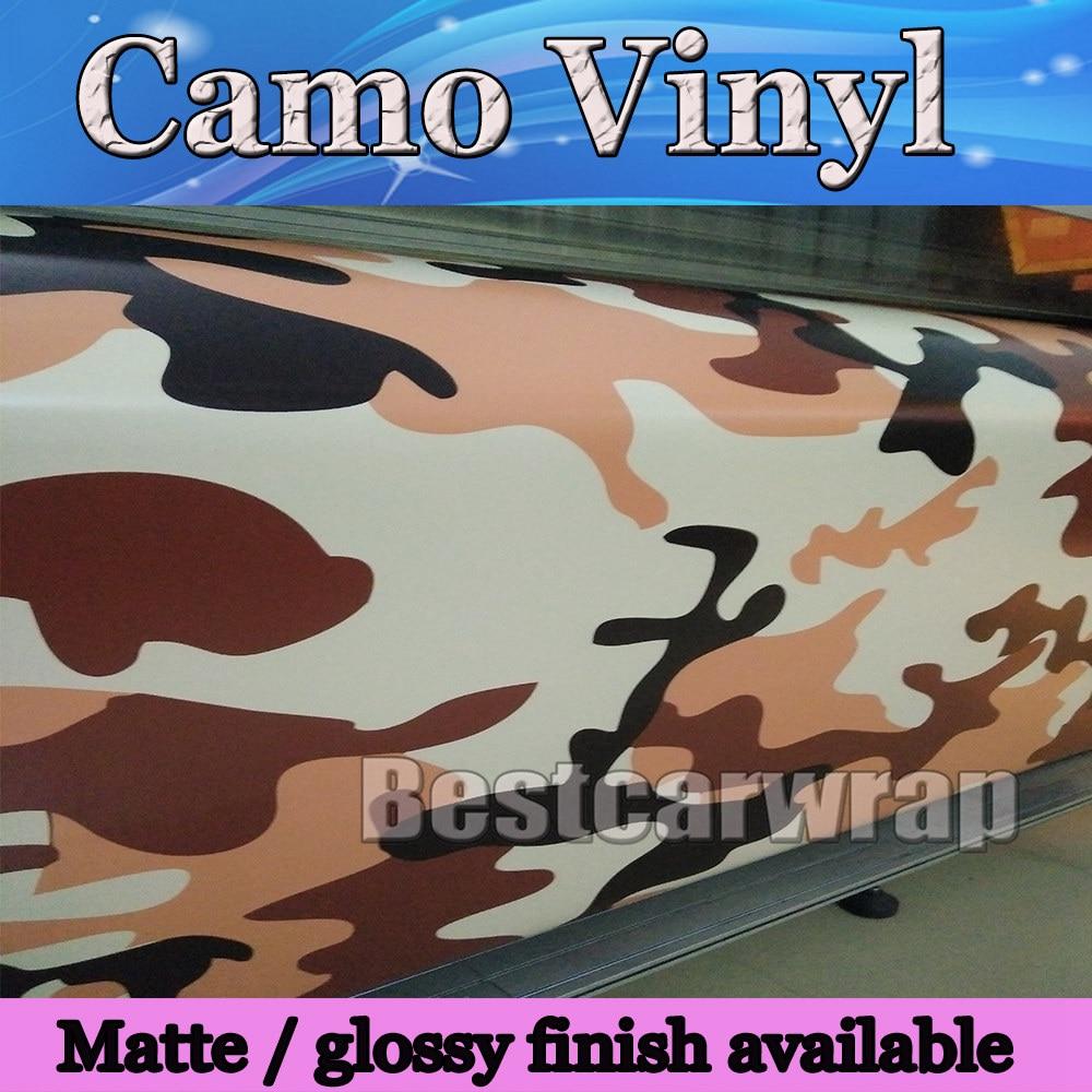 Camo Sticker bomba vinilo envoltura coche bicicleta portátil camuflaje ejército fresco tamaño 1,52x20 m/rollo con cubierta de liberación de aire
