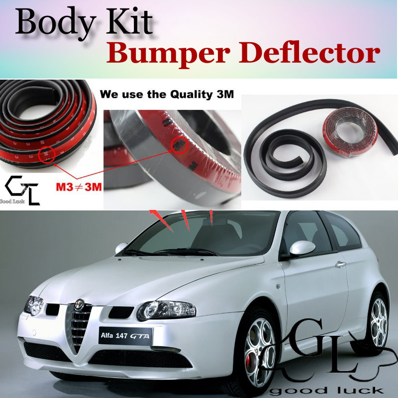 Bumper Lip Deflector Lips For Alfa Romeo 147 / GTA AR Front Spoiler Skirt For TOPGEAR Friends Car Tuning / Body Kit / Strip