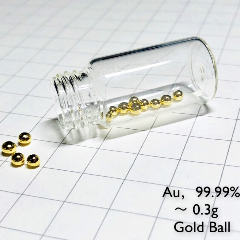 0.3 Gram 99.99% Gold metal Pellet - Pure Element 79 Sample