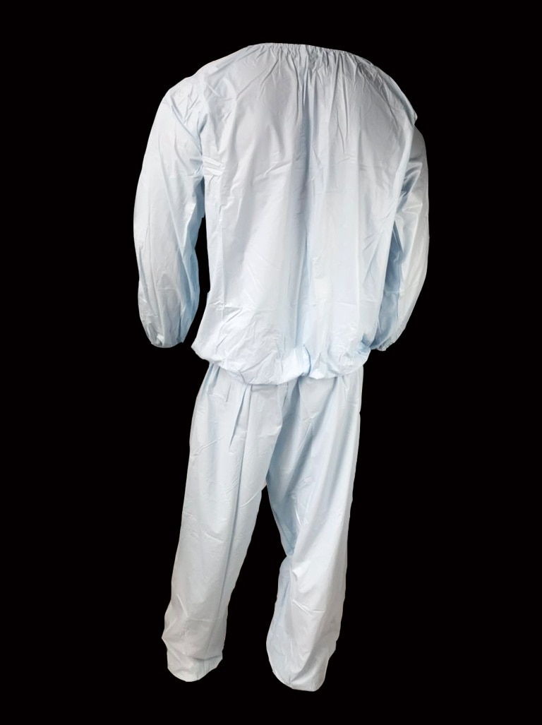 Pvc unissex incontinência jogging terno # P013-16, tamanho l/xl/xxl