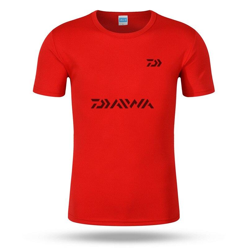 DAIWA Clothes S~3XL Men Quick Drying Fishing Clothing T Shirt Ultrathin Short Sleeve Sunscreen Anti-UV Breathable Fishing tShirt