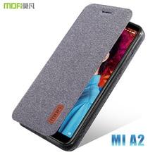 Mi A2 housse de protection MOFI pour xiaomi mi A2 étui à rabat en tissu pour xiaomi mi 6X coque arrière en Silicone souple mi A2 housse de protection complète