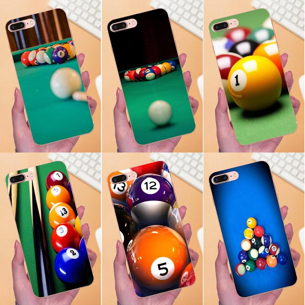 Teléfono TPU Live Love para Apple iPhone X XS Max XR 4 4S 5 5C 5S SE 6 6S 7 8 Plus, billar con bolas