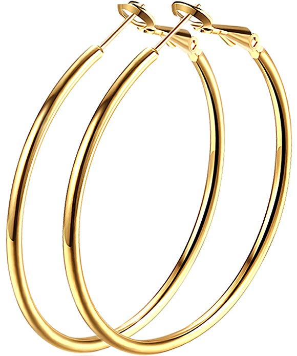 Boucles doreilles en or à la mode pour oreilles sensibles pour femmes