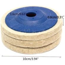 100mm laine polissage roue tampons de polissage meuleuse dangle roue feutre polissage disque polisseuse