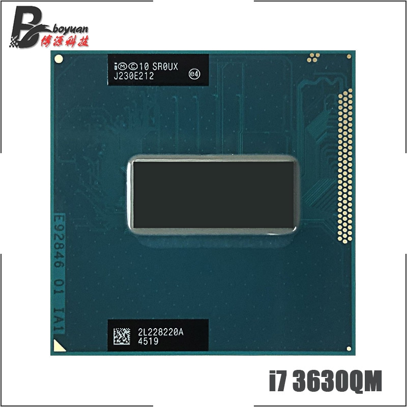 Intel core i7-3630QM i7 3630qm sr0ux 2.4 ghz quad-core processador cpu de oito linhas 6 m 45 w soquete g2/rpga988b