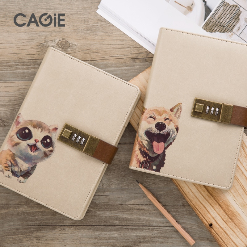 Recién llegado lindo gato de dibujos animados viajeros cuaderno diario kawaii con bloqueo planificador semanal Agenda útiles escolares papelería tienda