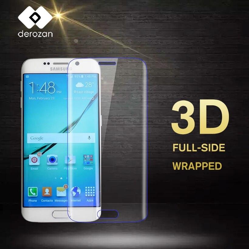 DEROZAN Screen Protector For Samsung S6 Edge Glass J5 J3 J7 A7 A5 A3 2017 A8 Plus 2018 Pro J530 J730 A520 Tempered Glass 3D Film