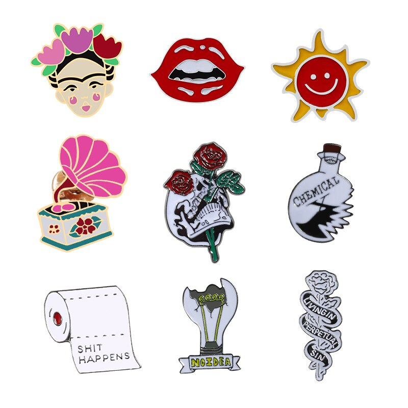Broches de ciencia a la moda pin de solapa con dibujo Botón de bolso insignias regalos para Mujeres Hombres joyería
