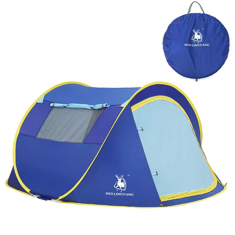 Outdoor automatic tents pop up waterproof camping hiking tents waterproof tents 3-4r people family tents