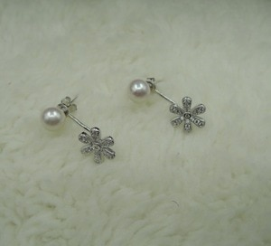 HIGH QUALITY PEARL EARRING,100% nature freshwater AAAAA pearl earring with 100% 925 silver hook --