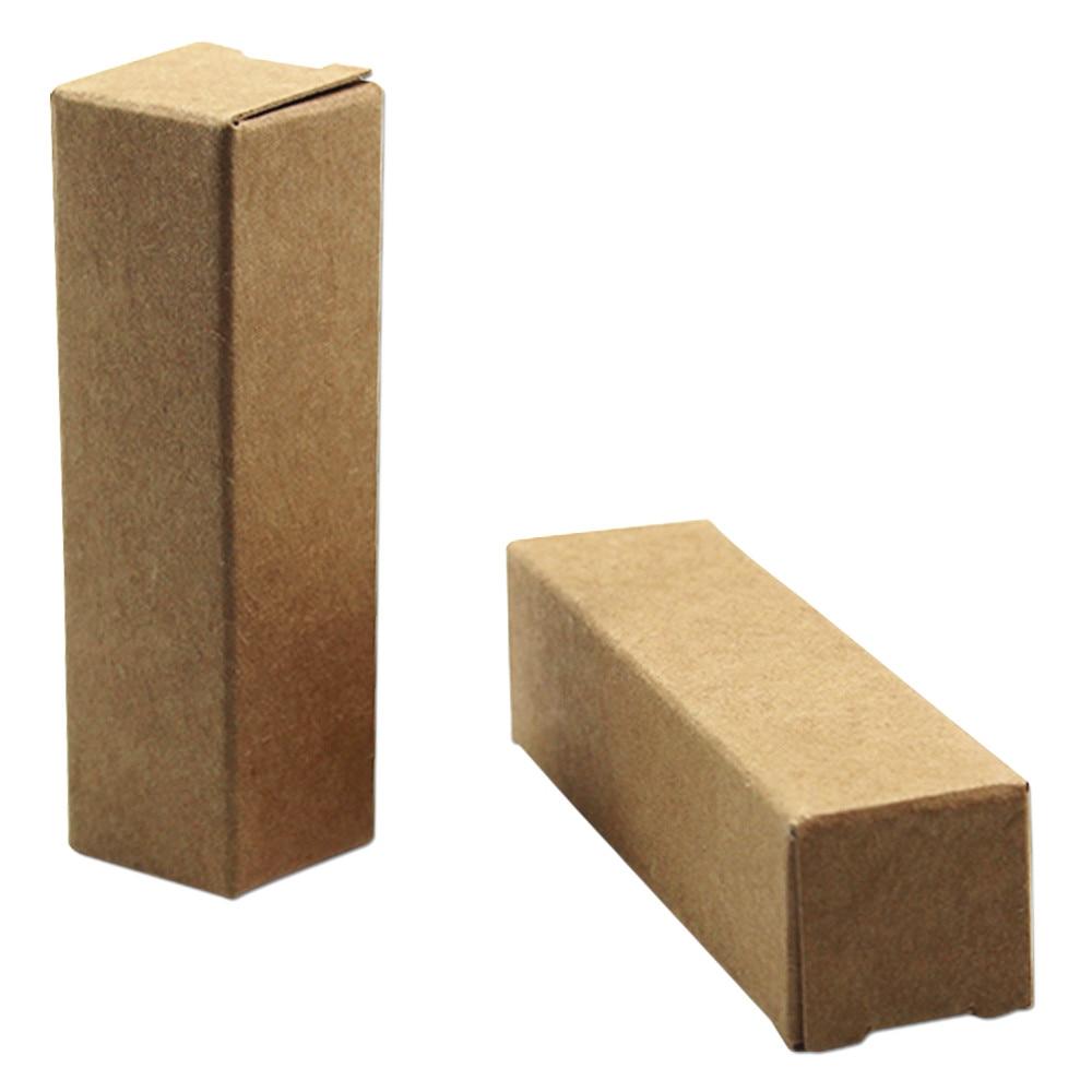 DHL 2*2*7cm papel Kraft marrón Aceite Esencial caja de embalaje crema de ojos cosmético perfume, lápiz labial fiesta al por menor caja de regalo 800 unids/lote