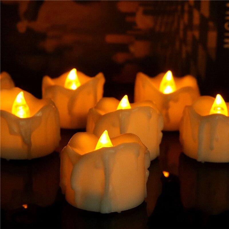 Velas sin llama con temporizador, paquete de 4 velas sin llama con...