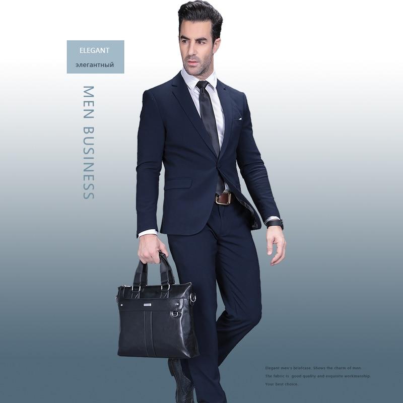 Moška aktovka poslovna ramenska torba usnjene messenger torbe torba - Aktovke - Fotografija 3
