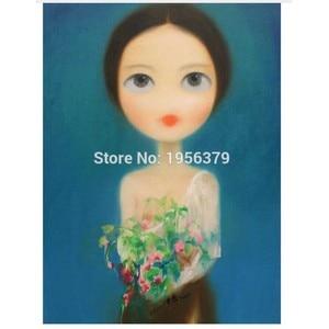Элегантная пикантная перспектива китайской традиционной длинной шерсти Девушка ручной работы Картина маслом оптовые цены картина маслом ...