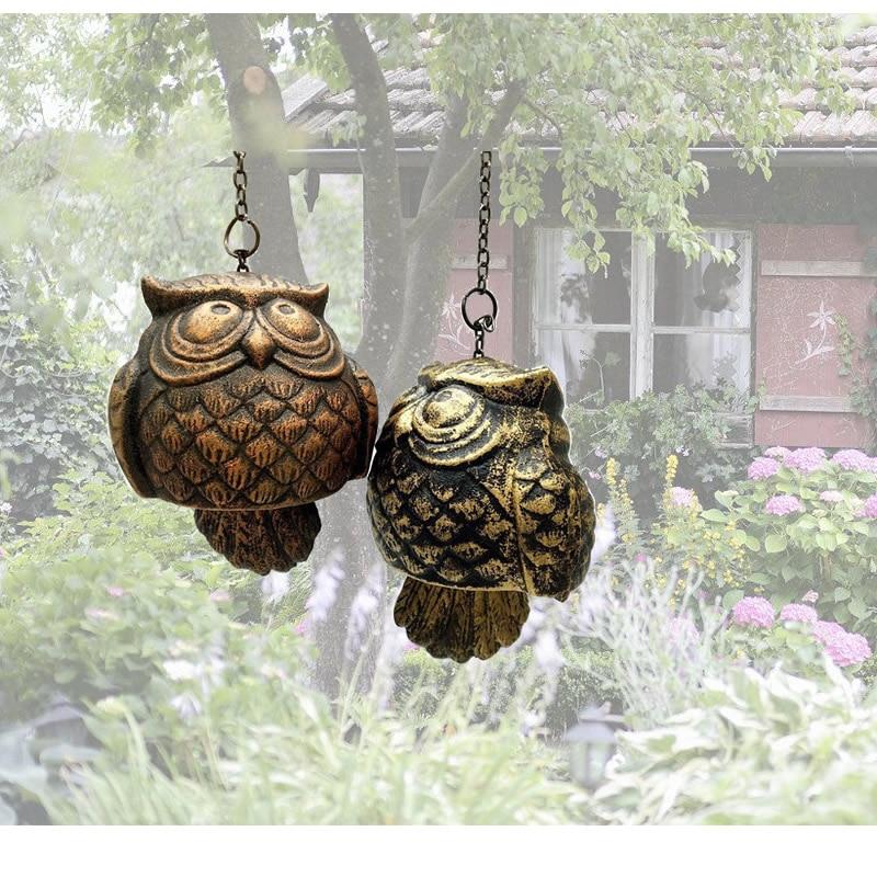 Kreative Metall Eule Wind Chime Zimmer Garten Hängen Vögel Anhänger Für Home Innen Tür Fenster Outdoor Garten Dekoration Geschenk