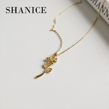 MLKENLY INS Cool 925 argent Sterling Simple Rose collier ras du cou amour colliers & pendentifs femme Extendy bohème Bijoux