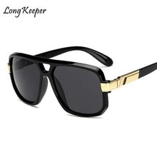 Long Keeper Square Sunglasses Men Luxury Brand Design Couple Lady Celebrity Flat Hot Women Sun Glass