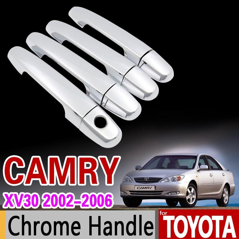 Coque de poignée chromée pour Toyota Camry 30 XV30 2002 2003 2004 2005 2006 Daihatsu Altis   Accessoires, autocollants style de voiture