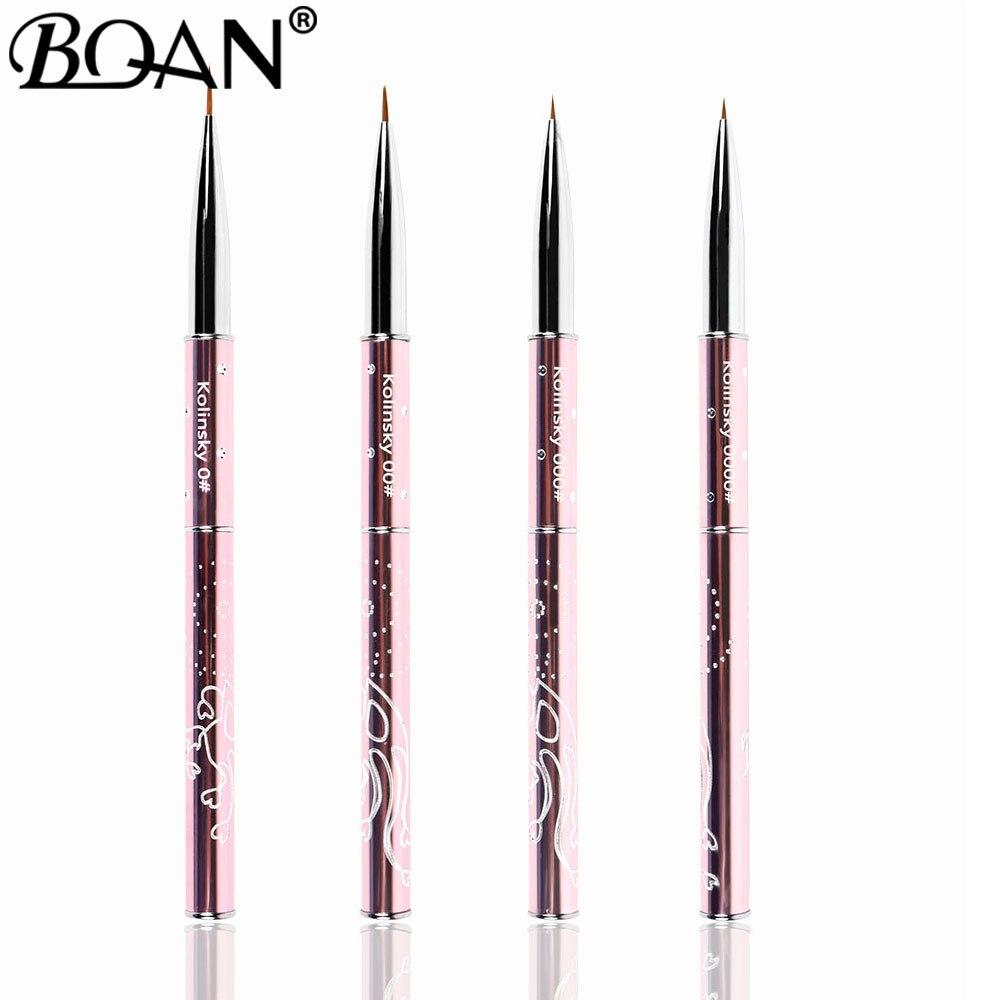 Кисть для маникюра BQAN, 4/5/7/10 мм, 1 шт. nail art liner liner brushnail art liner brush   АлиЭкспресс