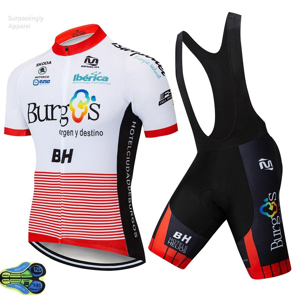 2019 deporte al aire libre Pro Burg Ropa Ciclismo Maillot equipo BH Ciclismo Jersey conjunto bicicleta Ropa Ciclismo conjuntos MTB bicicleta 12D