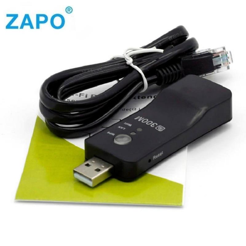 Новый USB универсальный беспроводной ТВ 300 Мбит/с Wifi адаптер WPS Ethernet усилитель мостовой схемы Wi-Fi ретранслятор сетевой кабель для LG Sony любой те...
