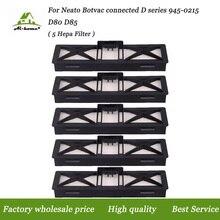 5 PCS/lot filtre HEPA pour Neato Botvac connecté série D Ultra Performance filtres remplace pour Neato série D 945-0215 D80 D85