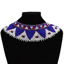 Multicolore africain tissé à la main perlé Maasai collier Style ethnique déclaration collier cadeaux bijoux à breloques en gros