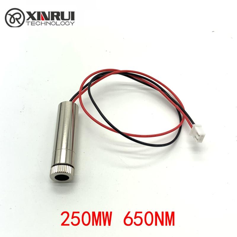 Реальная мощность красная линия лазерный модуль 250 мВт 405нм фокусировка Регулируемая лазерная головка 5 в промышленный класс DIY лазерный мод...