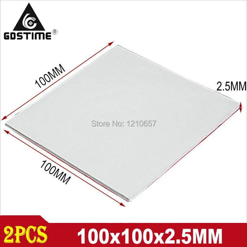 new gpu cpu heatsink cooling conductive silicone pad ic heat dissipation 100mm 100mm 1mm thermal pad high quality 2PCS Gdstime 2.5MM CPU GPU Silicone Thermal Pad Heatsink Cooling Conductive Heat 100mm*100mm*2.5mm