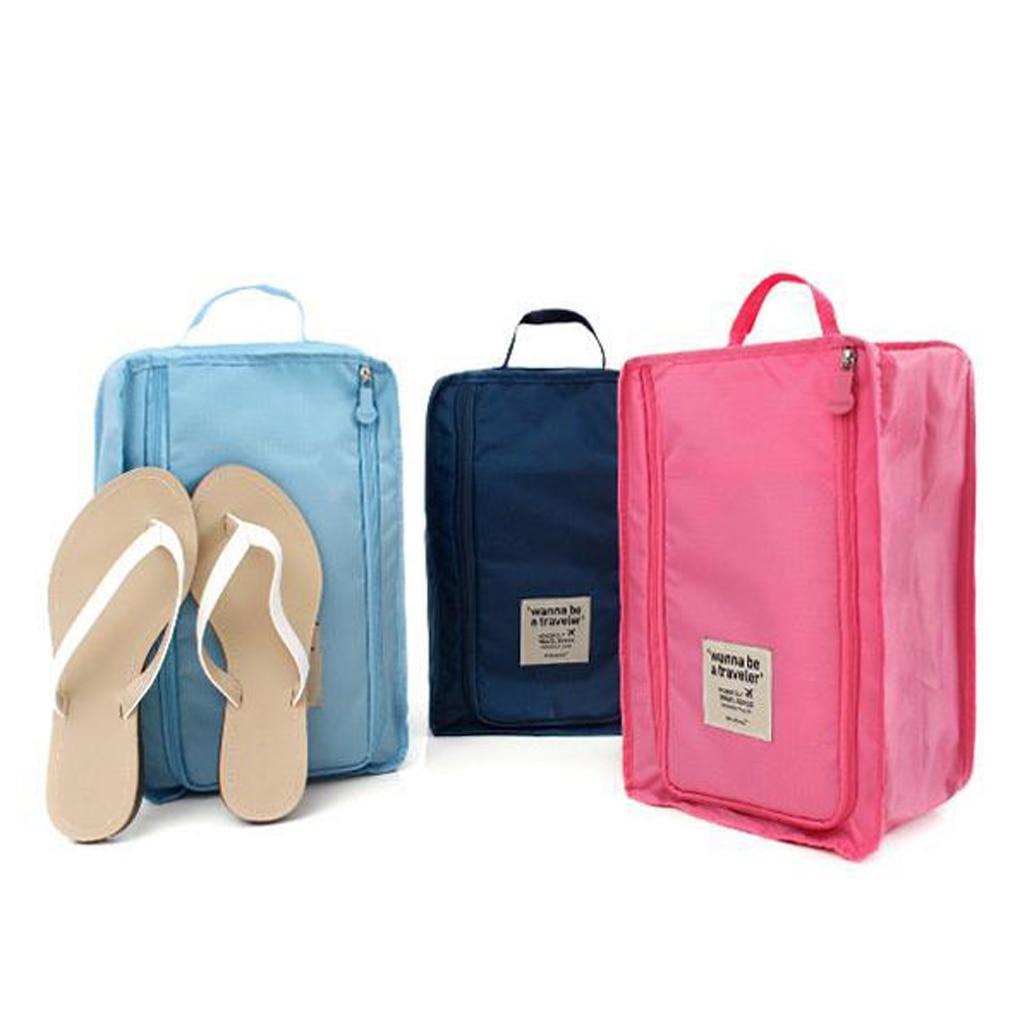Bolsa de almacenamiento de viaje al aire libre Nylon 6 colores portátil organizador bolsas bolsa de clasificación de zapatos