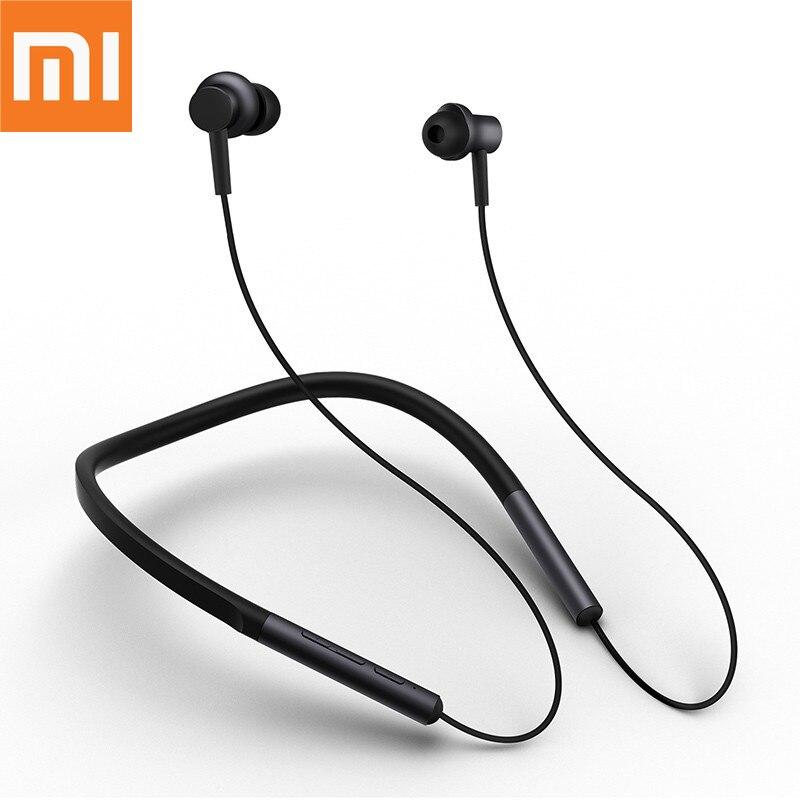 Fones de Ouvido sem Fio Celular com Microfone para Iphone Original Xiaomi Bluetooth Neckband Apt-x Híbrido Duplo Samsung Telefone mi