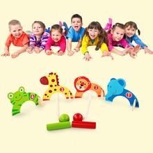 Croquet Cue Sport Indoor Mini Golf Outdoor Sports Toy Wooden Animal Door Ball Enducation Toys For Children New Design