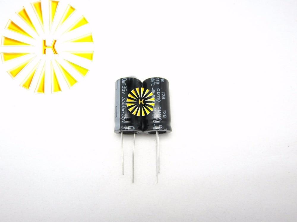 100 pièces X 100% nouveau condensateur électrolytique en aluminium 3300UF 35V 16X30