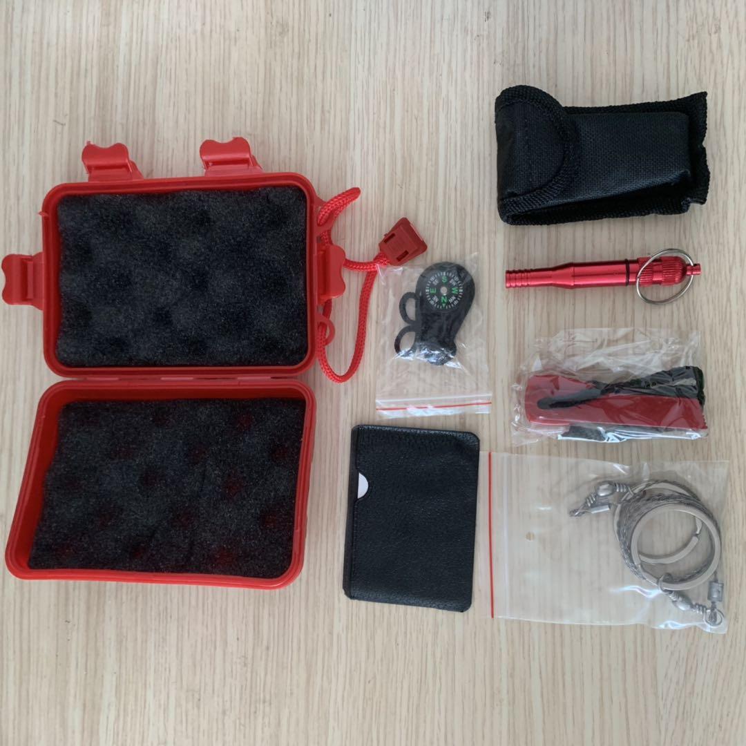 Kit militar de supervivencia al aire libre SOS Kits de primeros auxilios caja de equipo de emergencia de autoayuda bolsa para Camping senderismo