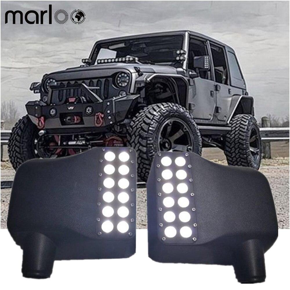 Voor Jeep Wrangler Accessoires Jk 12V Led Side Mirror Cover Lights Witte Drl Amber Richtingaanwijzer Voor Jeep Wrangler jk 2007-2018
