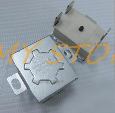 1Pc AC250V 15A 82C 83C 85C 90C 92C 95C NC de la temperatura por termostato interruptor controlado por 4 pines KSD302-S accesorios de calentador de agua