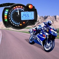 Brand New Blue Universal Motorcycle Motorbike LCD Digital Speedometer Odometer Tachometer