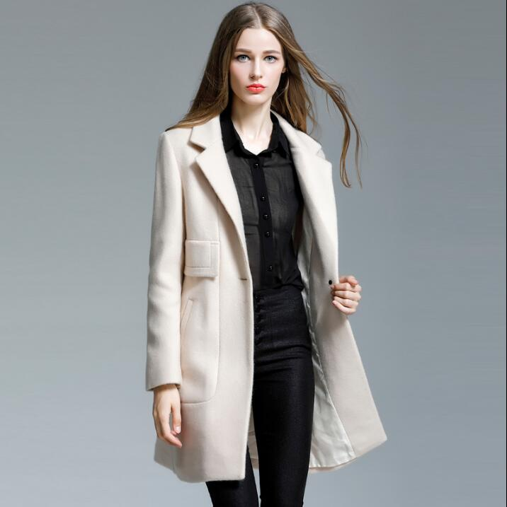 Abrigo largo de lana para Otoño e invierno 219, abrigo ajustado para...