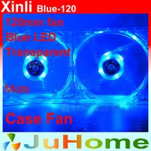 Blue LED, 120mm, 12cm fan, 12025 fan, super mute, for power supply, for computer Case cooler, XinLi blue-120