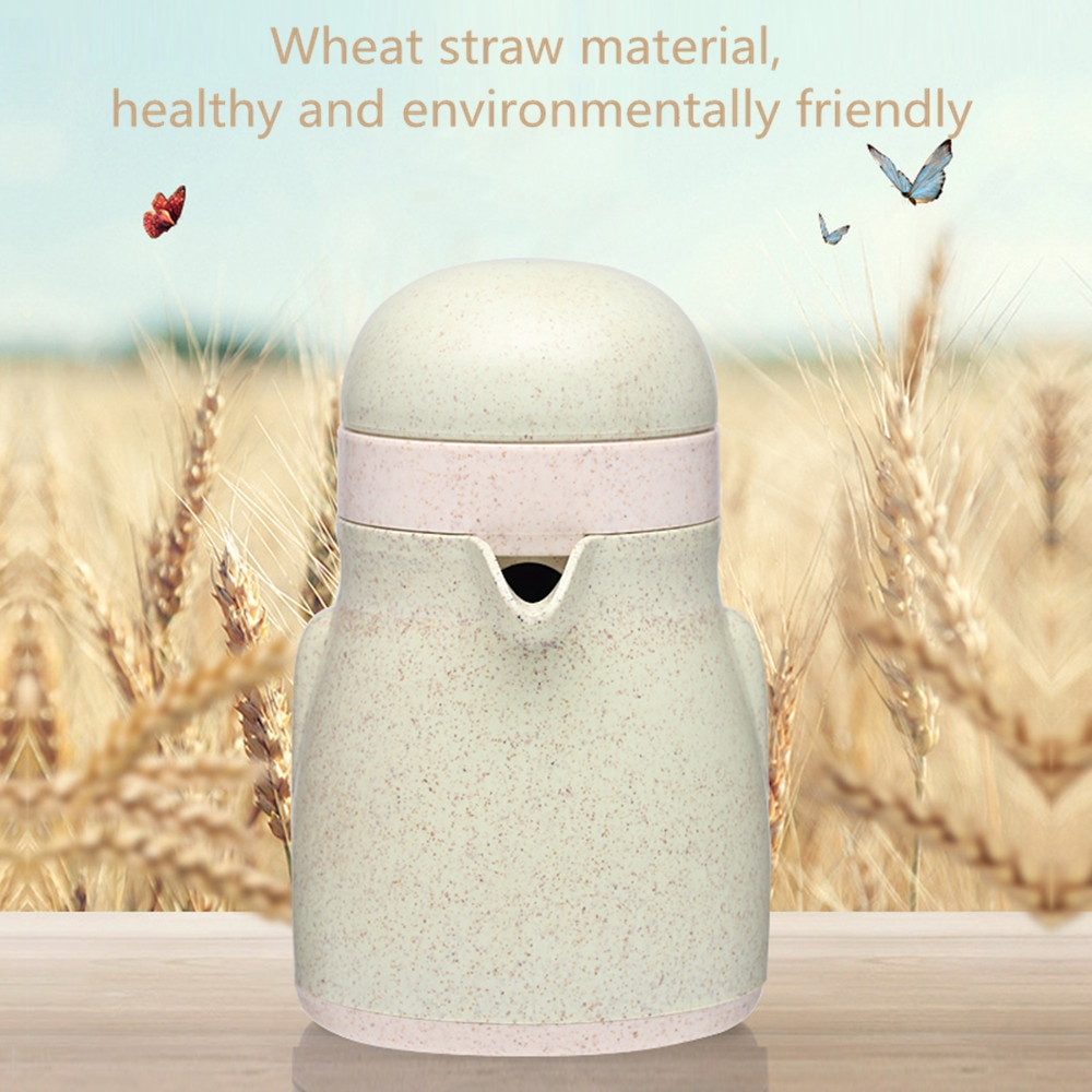 Juicer Wheat Straw Material Press Fruit Juicer Mini Fruit Squeezer for Citrus Orange Lemon Portable Juicer Machine 45w 700ml household portable juicer electric orange lemon fruit squeezer extractor electric juicer extractor fruit press machine