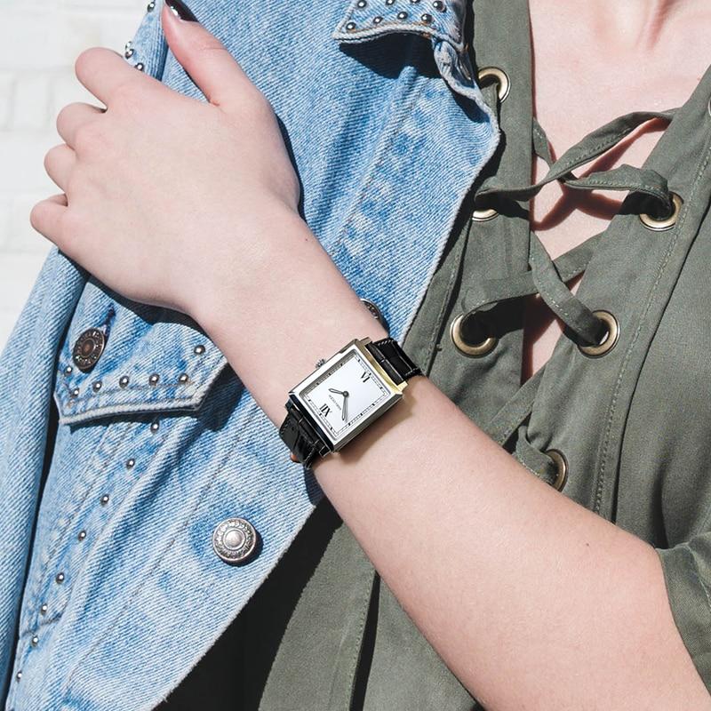 Agelocer Swiss Luxury Watches Leather Belt Quartz Watch Waterproof 50m Luminous Analog Clock Ladies Watches Square Women Gifts enlarge