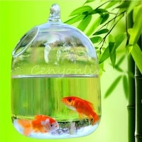 1pc glass vase home decoraquarium suitable for cultivation of hydroponic plant breeding type of small fish 14x10cm