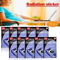 10 pçs anti proteção contra radiação emf escudo telefone adesivos smartphone rádio casa radisafe pegatinas transporte da gota