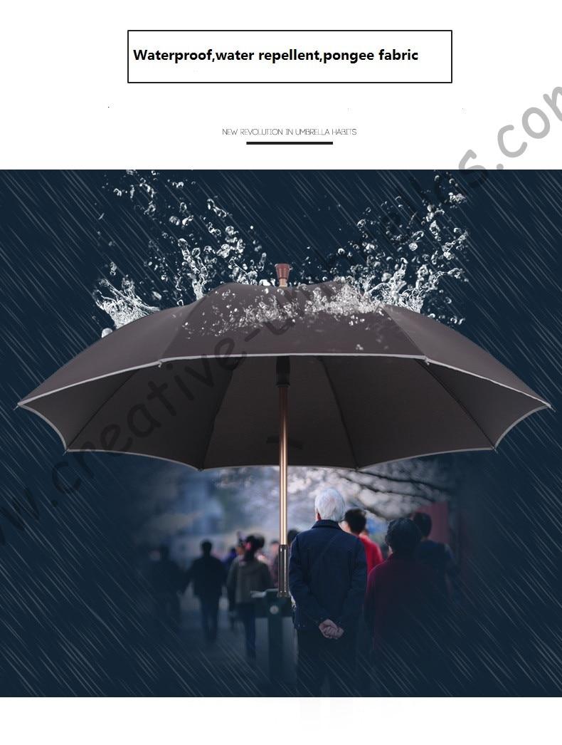 Detachable unbreakable self-defense climbing alloy brass parasol  fiberglass anti-skidding reflective crutch man's umbrellas enlarge
