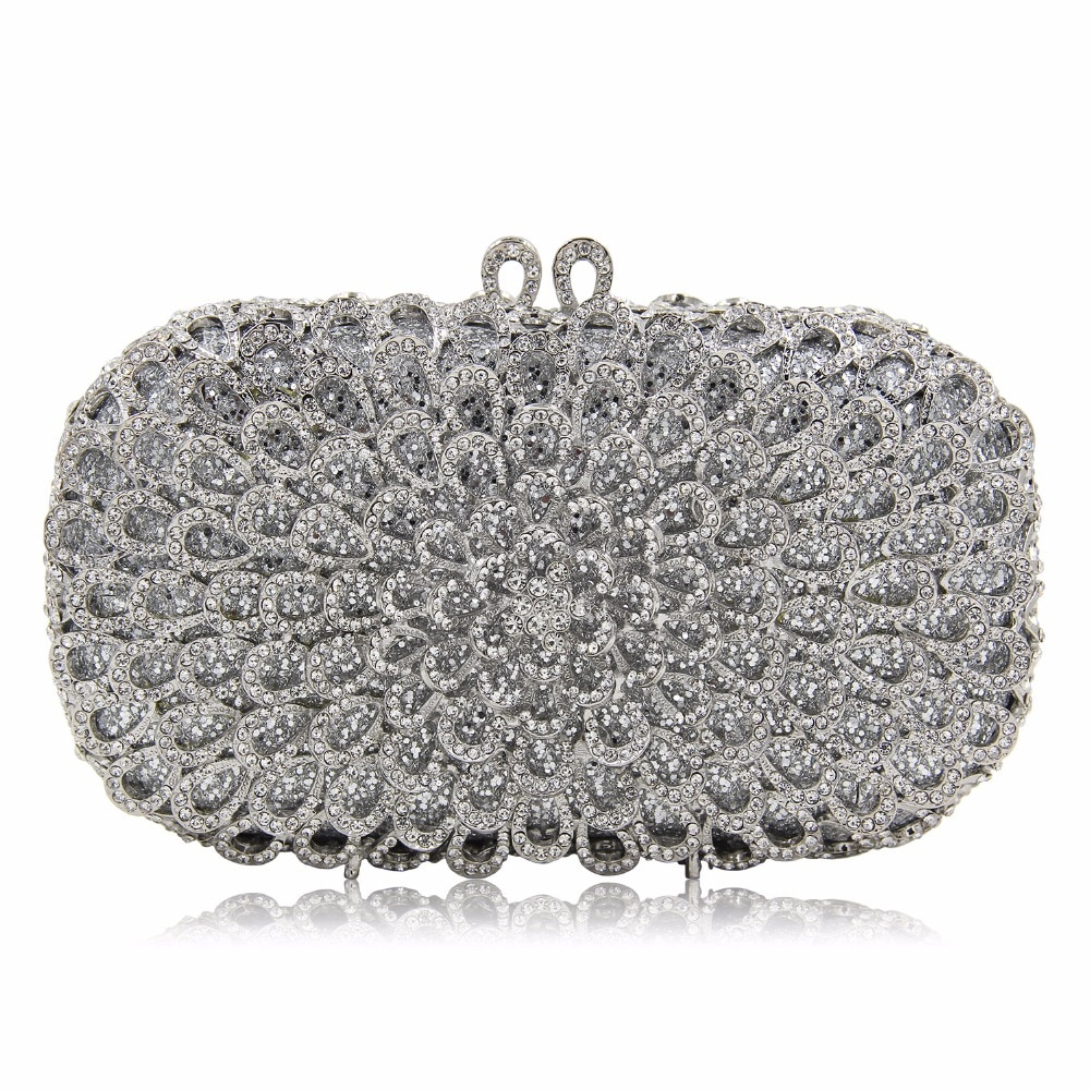 DAIWEI Luxury evening bag Crystal women party purse bags Ladies wedding bridal formal clutch bags banquet bag Day Clutches BL087